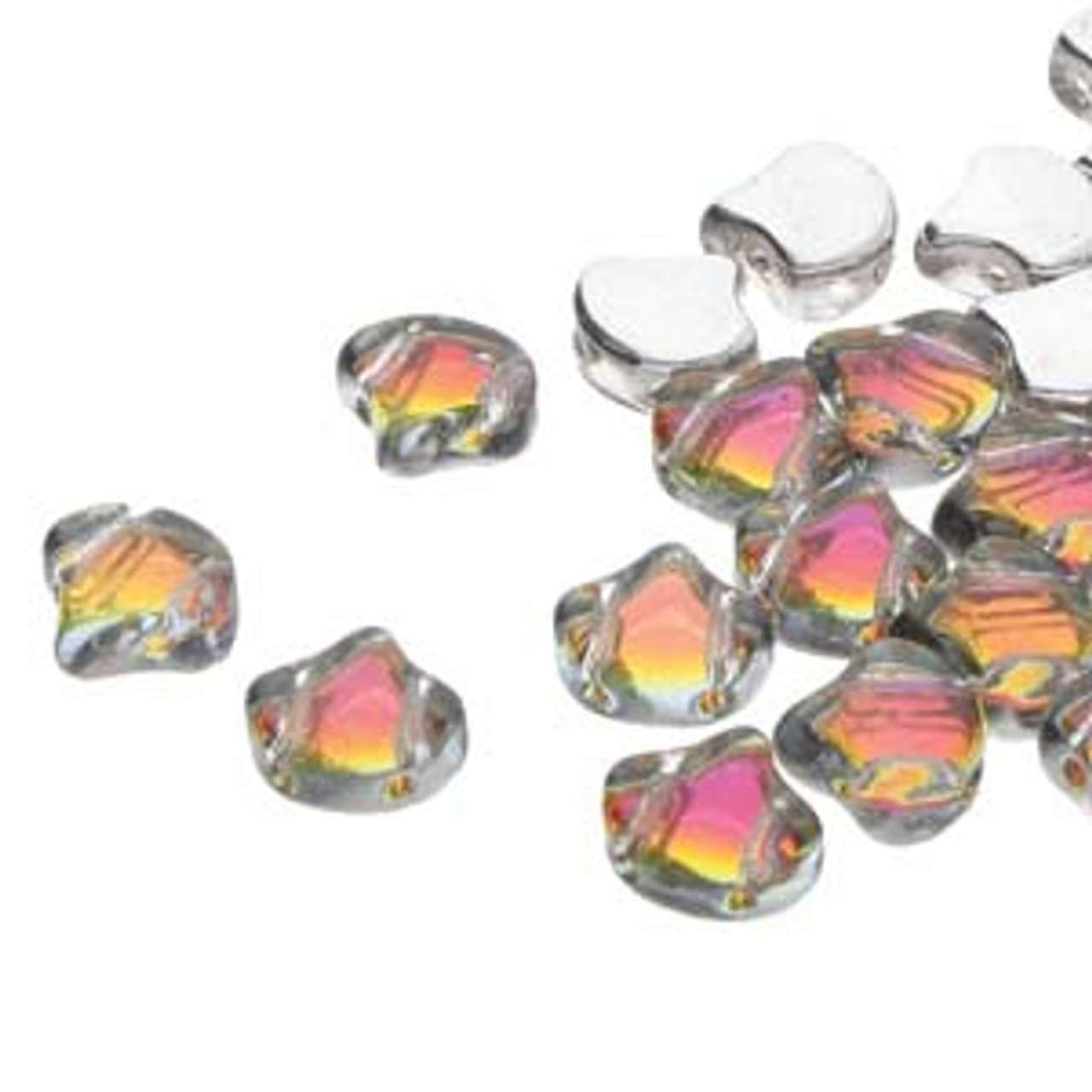 7.5x7.5mm Backlit Tequilla Ginko Beads (8 Grams) 30-35 Beads