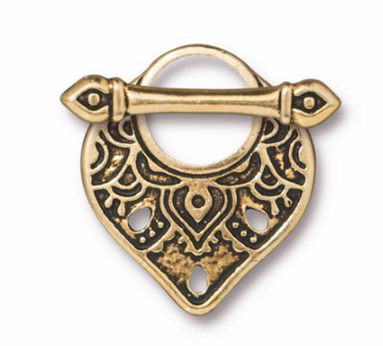 Temple Toggle Clasp Gold Plated - 1 Set