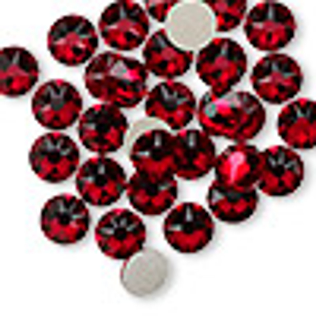 6pk SS34 Siam Flat Back Crystal (2088)