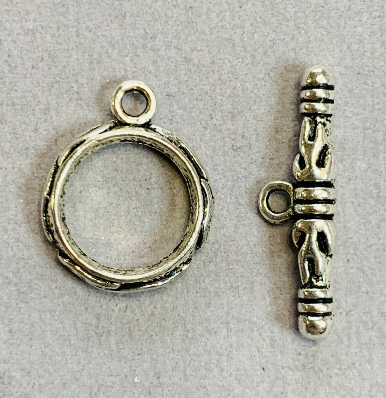14x17mm Lead Free Pewter Bali Toggle (2 sets)