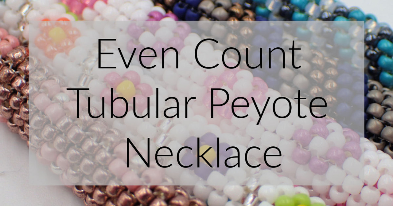 Chevron Tubular Peyote Stitch Necklace Graph & Word Chart PDF INSTANT DOWNLOAD Pattern