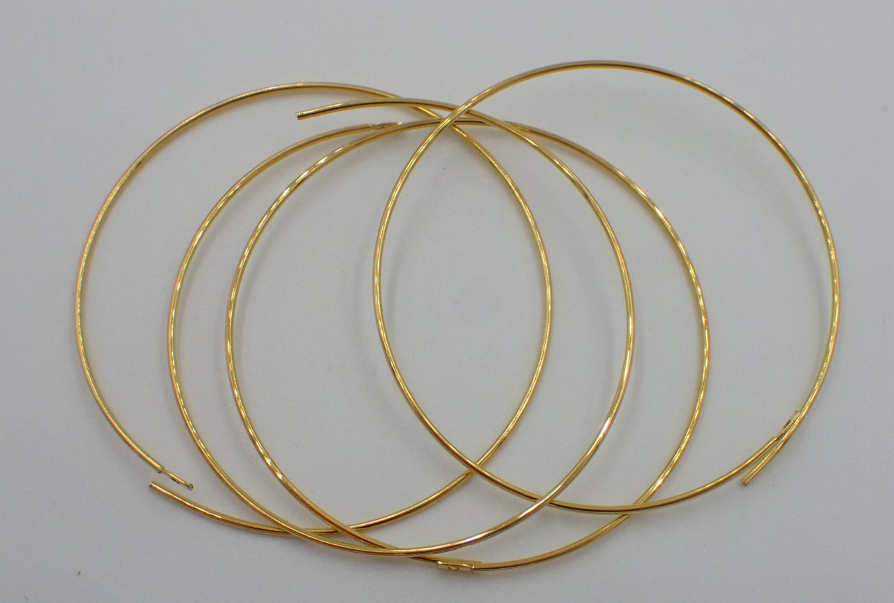 1.5mm Gold Plated Hoop Earrings (2 Pairs) 7480
