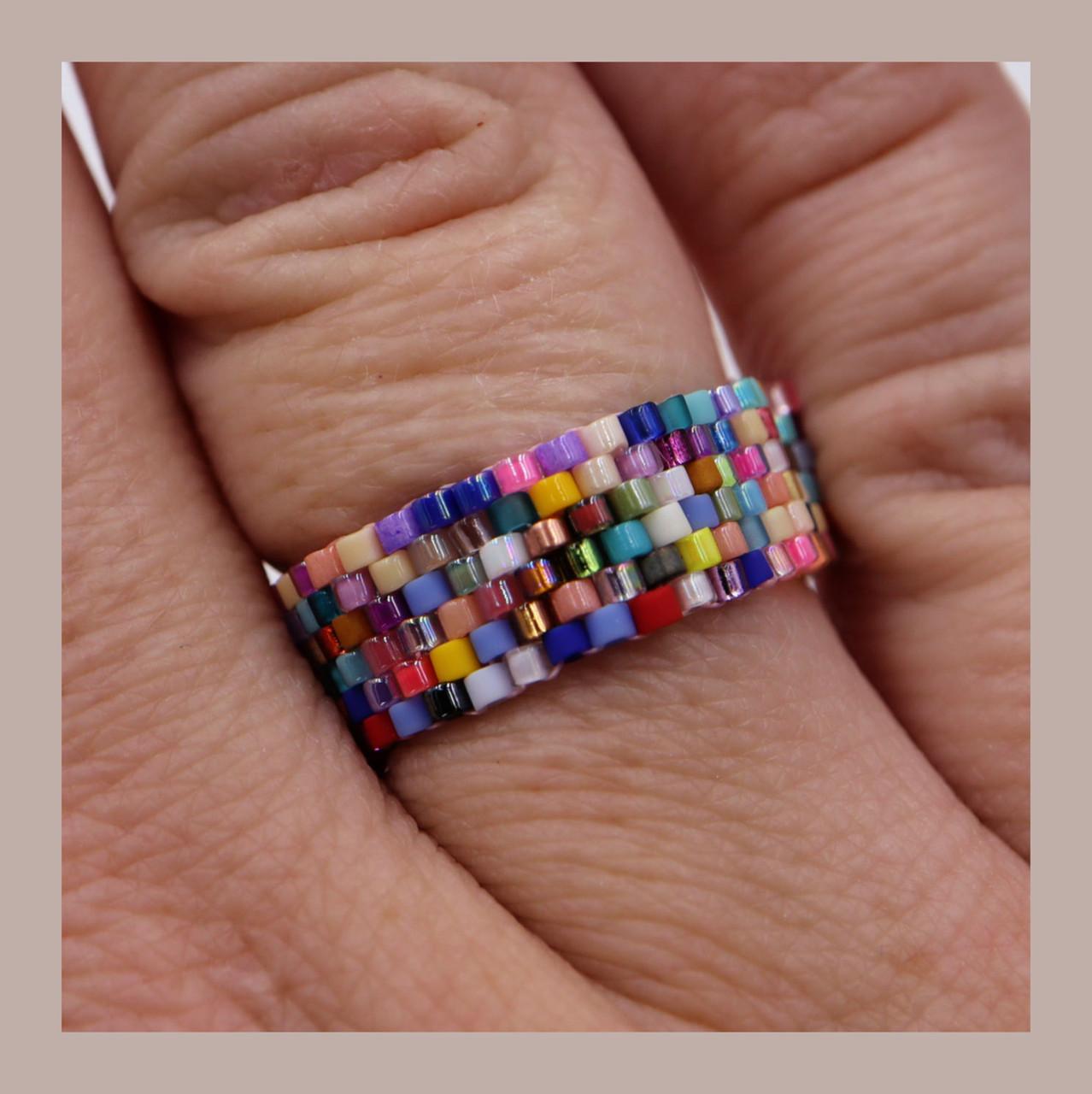 Bead Soup Peyote Ring PRINTED Pattern