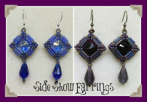 Sideshow Earrings INSTANT DOWNLOAD PDF Tutorial