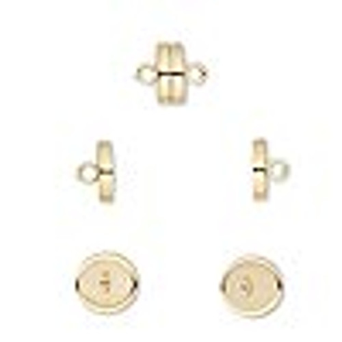 8x4mm Gold Plated Magnetic Clasp