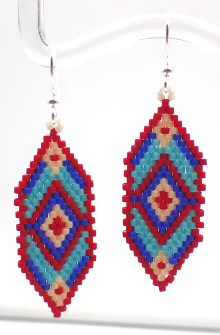 Red and Blue Diamond Queen Earring Kit