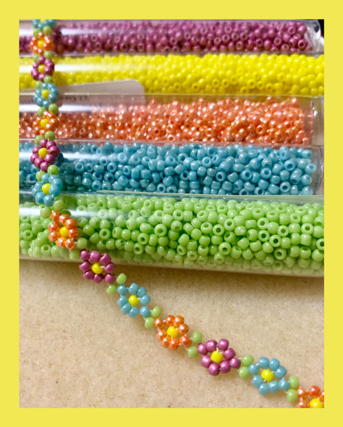 Two Needle RAW Daisy Chain INSTANT DOWNLOAD PDF Pattern