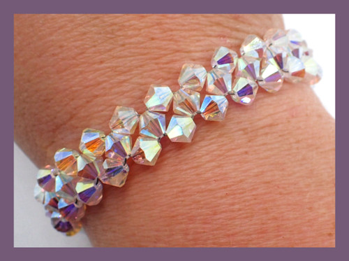 Crystal Tennis Bracelet PRINTED PATTERN - Mailed to your home