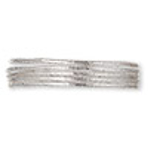 French wire, silver-plated copper, 1mm fancy tube. Sold per approximately 13-1/2 to 15 inch strand