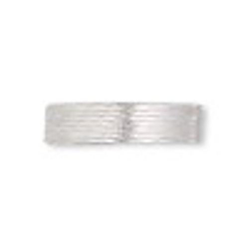 French wire, silver-plated copper, fine, 0.85mm. Sold per approximately 27-30 inch strand