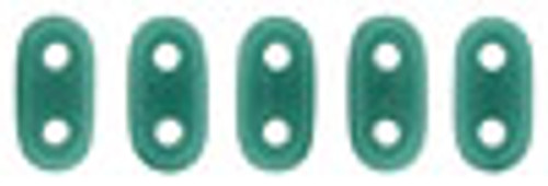 2x6mm Persian Turquoise Czechmate Bar - 8 Grams (Approx 100-112 Beads)
