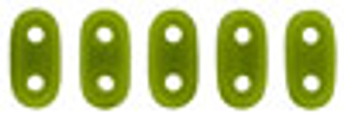 """2x6mm Opaque Olive Czechmate Bar - 2.5"""" Retail Tube"""