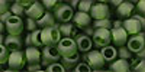 6/0 Transparent Frosted Olivine Toho Seed Beads (20 Grams) 06-940F