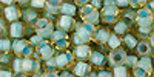 6/0 Inside Color RBW Light Topaz Seafoam Toho Seed Beads (20 Grams) 06-952
