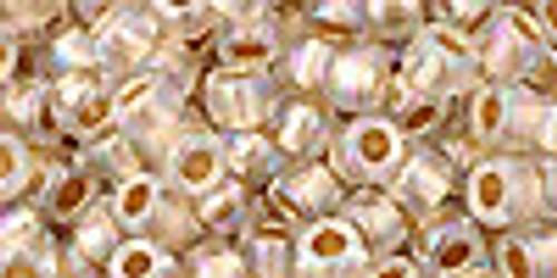 6/0 Gold Lined Rainbow Crystal Toho Seed Beads (20 Grams) 06-994