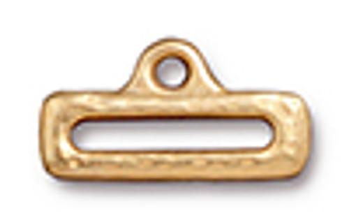 """1/2"""" Distressed Slide Link with Loop Gold (2pk) TierraCast"""