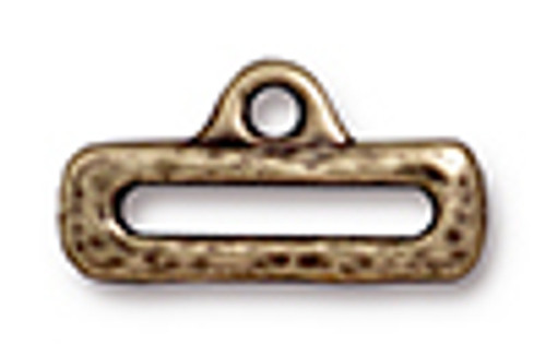 "1/2"" Distressed Slide Link with Loop Antique Gold (2pk) TierraCast"