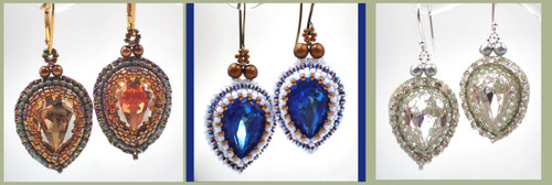 The Old Ball & Chain Earrings PRINTED Pattern - Mailed to your home