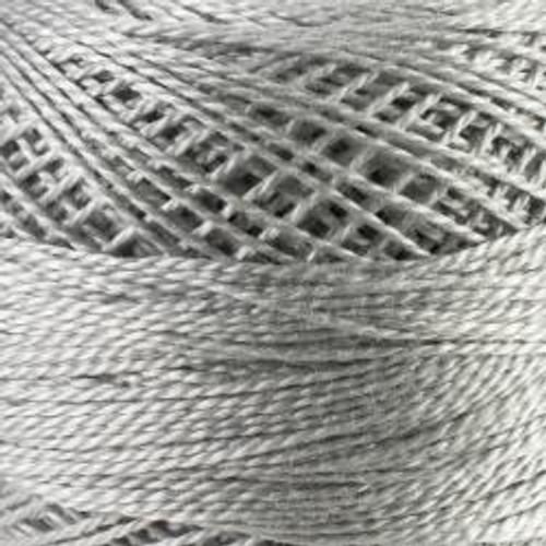 White Tin #8 DMC Pearl Cotton Cord - 87yd spool (#01)