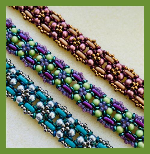 Brown Flowering Vines Bracelet Kit