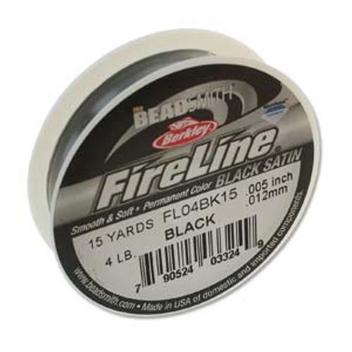 4lb Black Satin Fire Line - 15yds