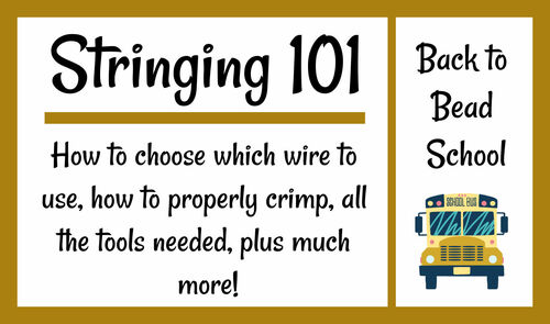 Back to Bead School - Stringing 101 - INSTANT DOWNLOAD Pattern
