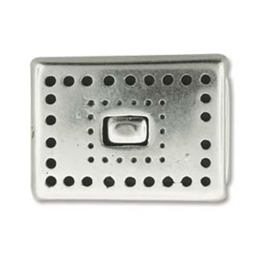 10x2mm Antique Silver Magnetic Clasp Set (1 Clasp)