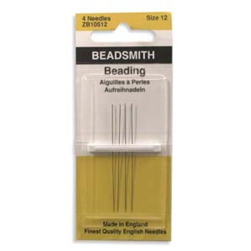 BeadSmith (John James) Size 12 Beading Needles - 4pk