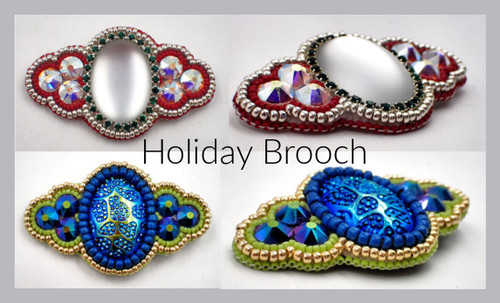Holiday Brooch Kit (White, Green, Red)