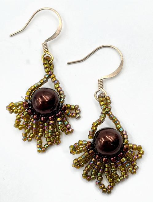 Brown Peacock Earring Kit