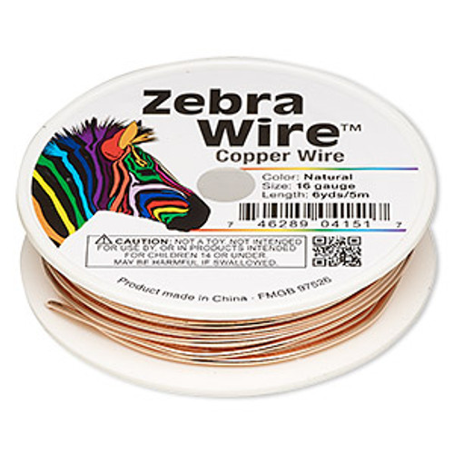 16g Natural Copper Wire 6yds