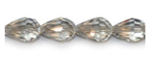 4pk 14x10mm Crystal Thunder Polish Teardrop