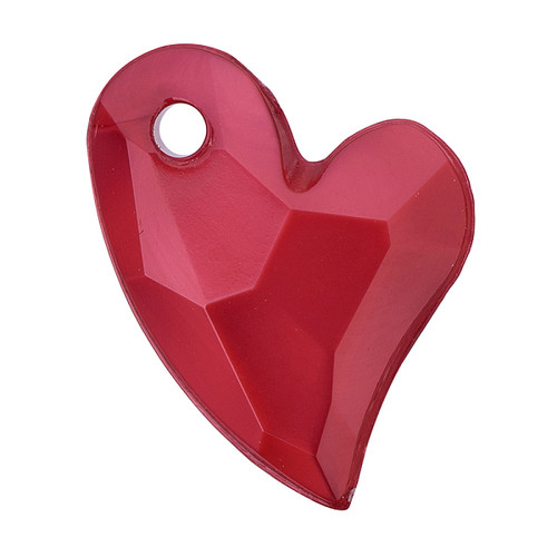 11x9x4mm Fire Brick Acrylic Heart 6pk