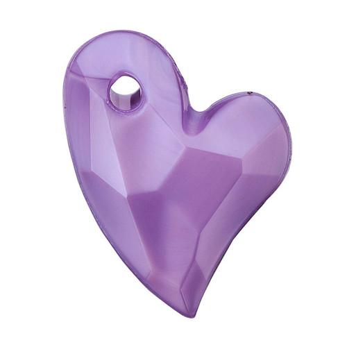 11x9x4mm Lilac Acrylic Heart 6pk
