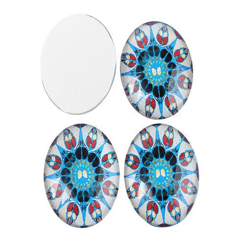 18x13mm Mosaic Oval Glass Cabochon Mix (6pk)