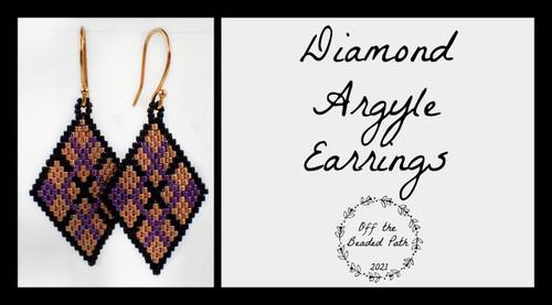 Diamond Argyle Earring INSTANT DOWNLOAD Tutorial