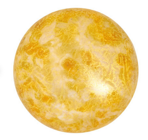 25mm Opaque Ivory Spotted Par Puca Cabochon (1 Piece) #02010/65321