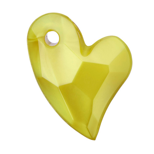 11x9x4mm Yellow Acrylic Heart 6pk