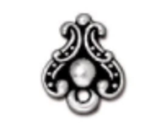 Duchess Post Earrings Pewter Silver (1 Pair)