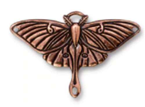 Luna Moth Pendant Link Antique Copper Pewter (1 Link)