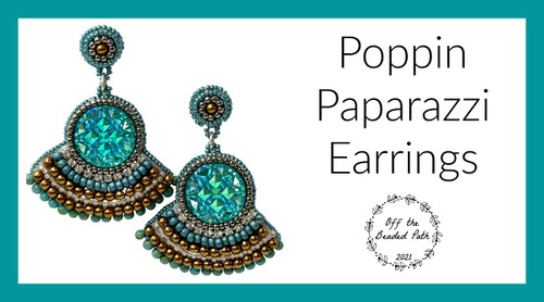 Poppin Paparazzi Earrings INSTANT DOWNLOAD Pattern