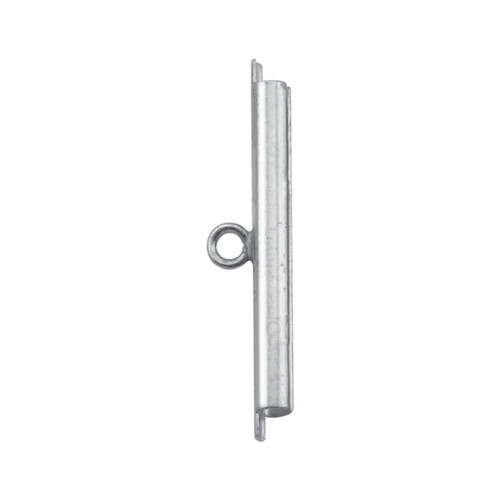 Cord Ends, Tube Slide, 30 mm (1.18 in), I.D. 2.44 mm (.096 in), Slit width .74 mm (.029 in), Silver Plated, 2 pc
