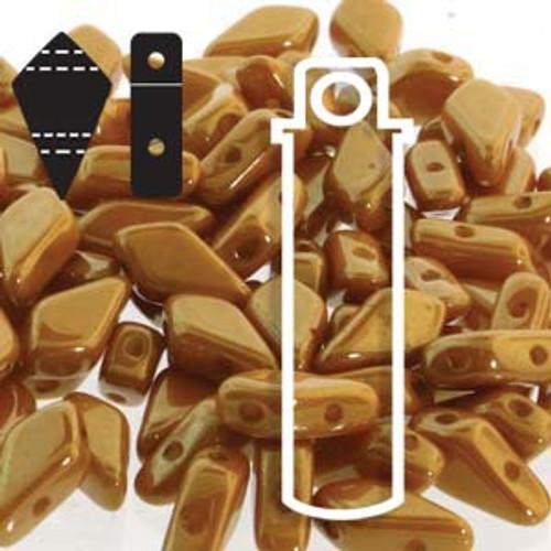9x5mm 2HL Lemon Red Luster Kite Beads (22 Grams)