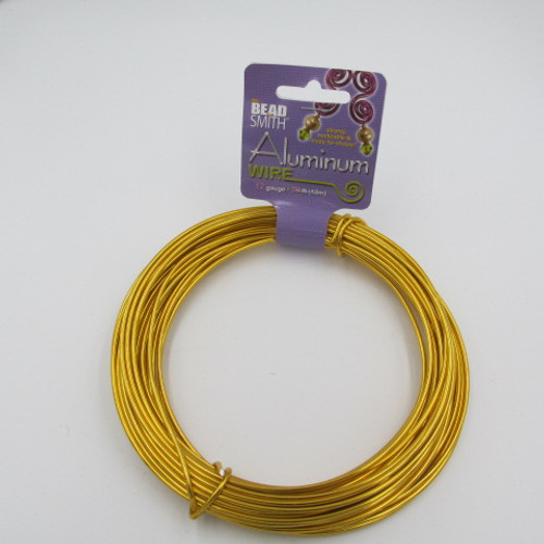 Gold 12 Gauge Aluminum Wire
