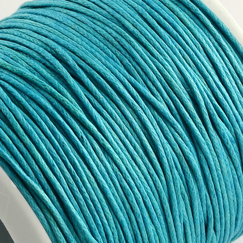 1mm Light Sky Blue Waxed Cotton Cord (5yds)