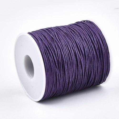 1mm Medium Purple Waxed Cotton Cord (5yds)