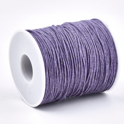 1mm Lilac Waxed Cotton Cord (5yds)
