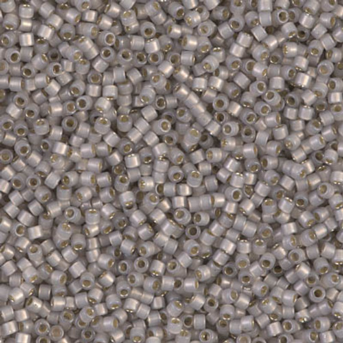 11/0 Silver Lined Light Taupe Opal Delica Beads (DB1456) 7.2 Grams