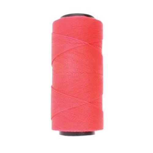 144yds 2 ply Neon Pink  Waxed Brazilian Cord