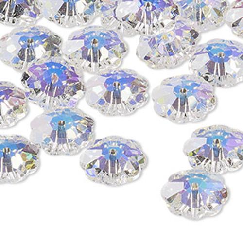 12mm Crystal AB Preciosa Loch Flower Bead (6pk)